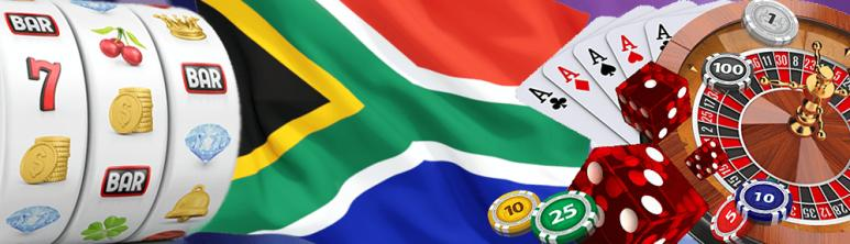 SA flag with online casino games