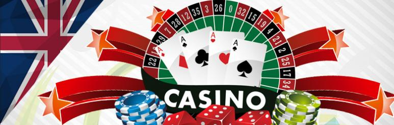 UK online casino, roulette wheel, card and casino chips